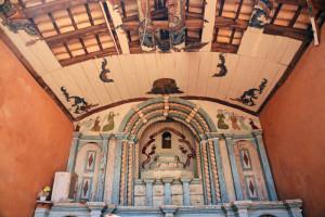 pinturas e altar igreja do rosário
