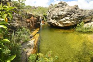detalhes da cachoeira sentinela